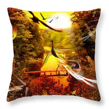 Birds World Throw Pillow by Svetlana Sewell