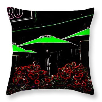 Bistro Throw Pillow by Will Borden