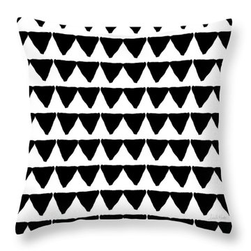 Black And White Triangles- Art By Linda Woods Throw Pillow by Linda Woods