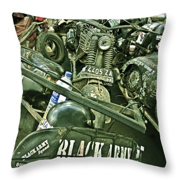 Black Army Throw Pillow by Charuhas Images