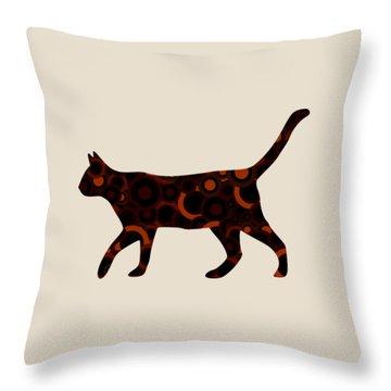 Black Cat - Animal Art Throw Pillow by Anastasiya Malakhova