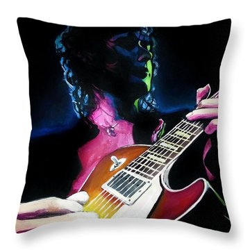 Black Dog Throw Pillow by Tom Carlton