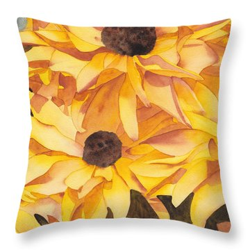 Black Eyed Susans Throw Pillow by Ken Powers