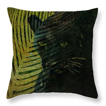 Black Panther Throw Pillow by Arline Wagner
