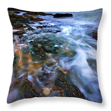 Black Point Light Throw Pillow by Meirion Matthias