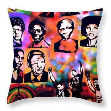 Black Revolution Throw Pillow by Tony B Conscious