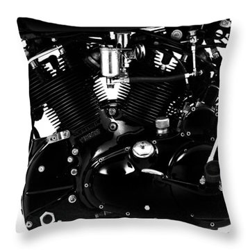 Black Shadow 988cc Throw Pillow by Mark Rogan