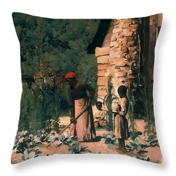 Black Sharecroppers, 1879 Throw Pillow by Granger