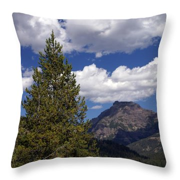 Blacktail Plateau Vertical Throw Pillow by Marty Koch