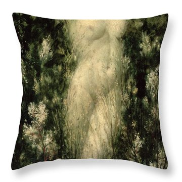 Blodeuwedd Throw Pillow by Christopher Williams