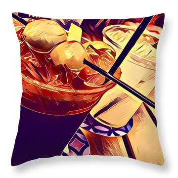 Bloody Mary And Moscow Mule Throw Pillow by Frush Photos