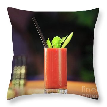 Bloody Mary Forever Throw Pillow by Ekaterina Molchanova