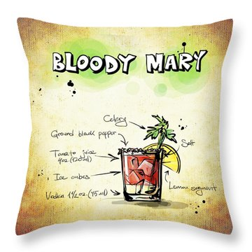 Bloody Mary Throw Pillow by Movie Poster Prints