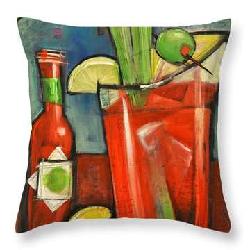 Bloody Mary Throw Pillow by Tim Nyberg