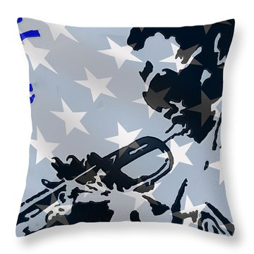 Blow Your Horn Throw Pillow by Robert Margetts