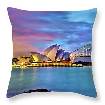 Blue Harbour Throw Pillow by Az Jackson