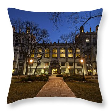Blue Hour Harper Throw Pillow by CJ Schmit