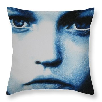 Blue Throw Pillow by Lynet McDonald