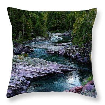 Blue River Throw Pillow by Joseph Noonan