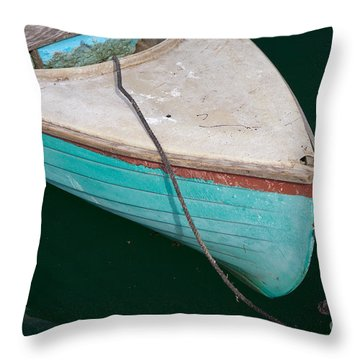 Blue Rowboat 1 Throw Pillow by Susan Cole Kelly