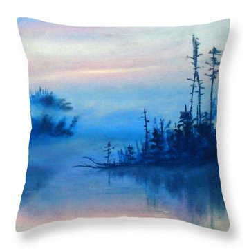 Blue Solitude Throw Pillow by Cathy Weaver
