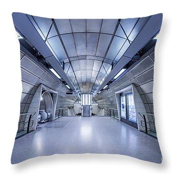 Blue Tomorrow Throw Pillow by Evelina Kremsdorf