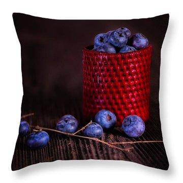 Blueberry Delight Throw Pillow by Tom Mc Nemar