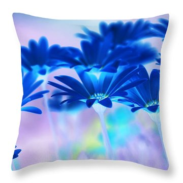 Bluemination Throw Pillow by Robin Webster