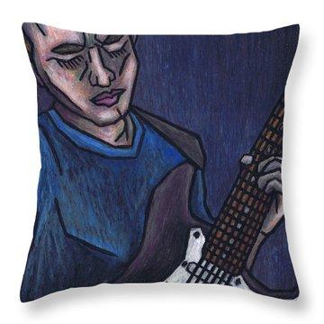 Blues Player Throw Pillow by Kamil Swiatek