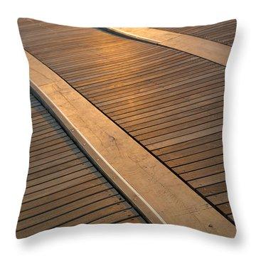 Boardwalk Throw Pillow by Sebastian Musial