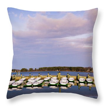 Throw Pillow Rental : Boat Rentals Photograph by Nancy Comley