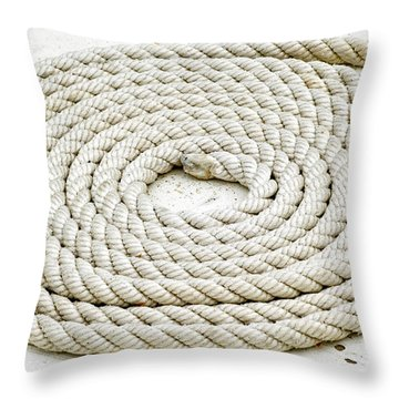Throw Pillow featuring the photograph Boat Rope by Frank Tschakert
