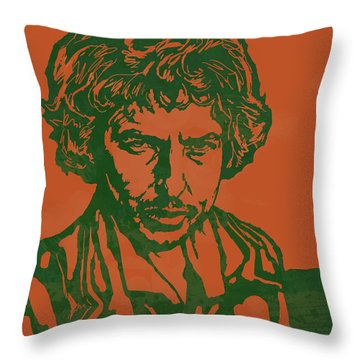 Bob Dylan Pop Stylised Art Sketch Poster Throw Pillow by Kim Wang