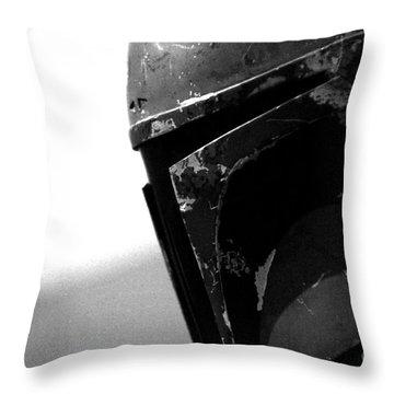 Boba Fett Helmet Throw Pillow by Micah May