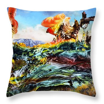 Bogomil Landscape Throw Pillow by Otto Rapp