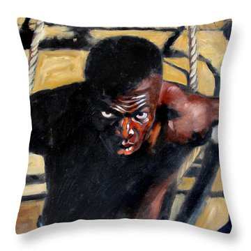 Bondage Throw Pillow by John Lautermilch