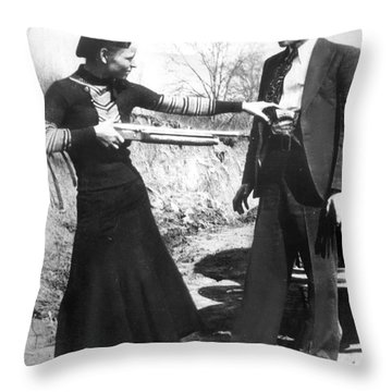 Bonnie And Clyde, 1933 Throw Pillow by Granger