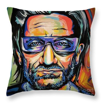 Bono Throw Pillow by Amy Belonio
