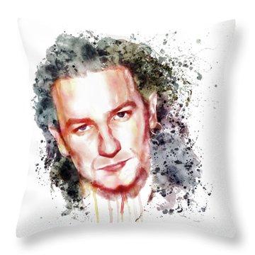 Bono Vox Throw Pillow by Marian Voicu