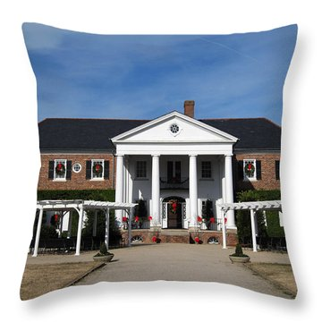 Boone Hall Plantation Charleston Sc Throw Pillow by Susanne Van Hulst