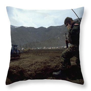 Throw Pillow featuring the photograph Boots On The Ground by Travel Pics