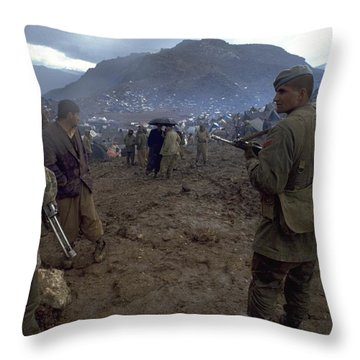 Throw Pillow featuring the photograph Border Control by Travel Pics