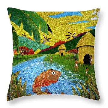 Boriken Throw Pillow by Oscar Ortiz