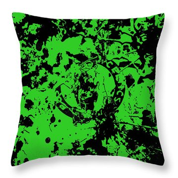 Boston Celtics 1a Throw Pillow by Brian Reaves