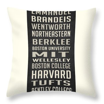 Boston Colleges Poster Throw Pillow by Edward Fielding