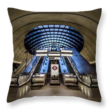 Bound For The Underground Throw Pillow by Evelina Kremsdorf