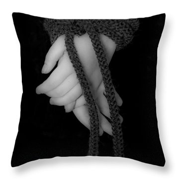 Bound Hands Throw Pillow by Joana Kruse