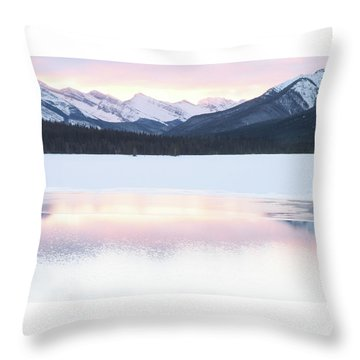 Bow Valley In Kananaskis Country Throw Pillow by Carol Cottrell