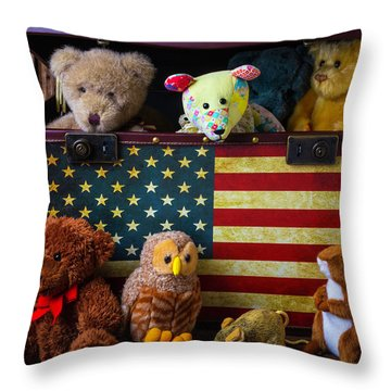 Box Full Of Bears Throw Pillow by Garry Gay