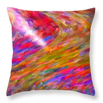 Break Through Throw Pillow by Michael Durst